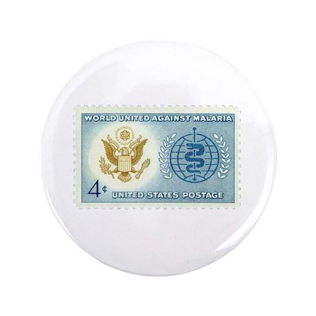 "Malaria Stamp 3.5"" Button"