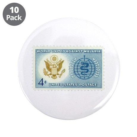 """Malaria Stamp 3.5"""" Button (10 pack)"""