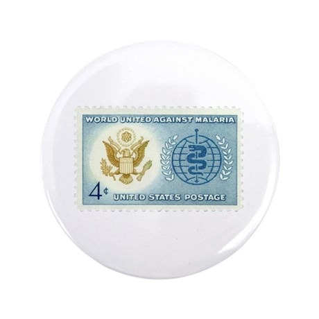 """Malaria Stamp 3.5"""" Button (100 pack)"""