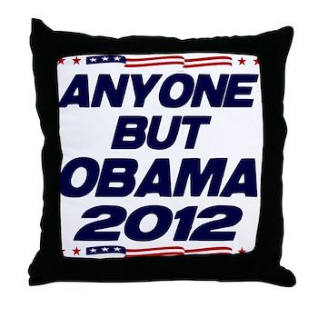 Anyone But Obama Throw Pillow