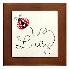 Ladybug Lucy Framed Tile