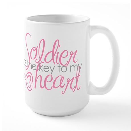 Key to my heart Large Mug