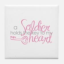 Key to my heart Tile Coaster
