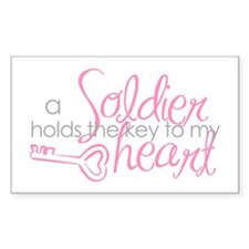 Key to my heart Rectangle Decal