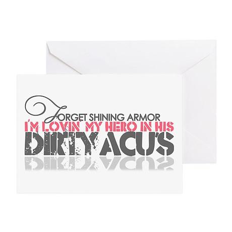 Dirty ACU's Greeting Card