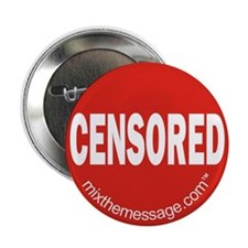 """Censored 2.25"""" Button (10 pack)"""