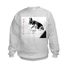 german shepherd agility afram Sweatshirt