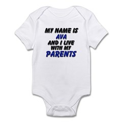 my name is ava and I live with my parents Infant B