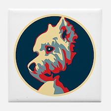 Vote Westie! - Tile Coaster