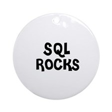 SQL ROCKS Ornament (Round)