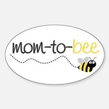 mom to be t shirt Oval Bumper Stickers