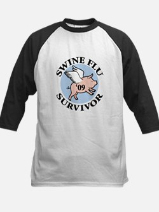 Swine Flu Survivor '09 Kids Baseball Jersey