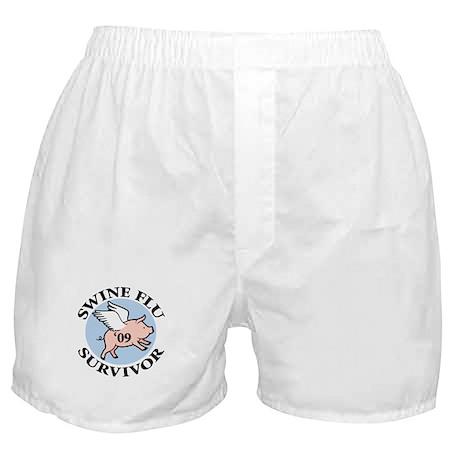 Swine Flu Survivor '09 Boxer Shorts