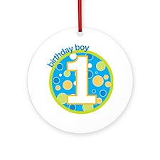 first birthday boy t-shirts Ornament (Round)