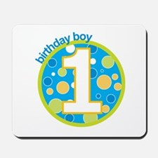 first birthday boy t-shirts Mousepad