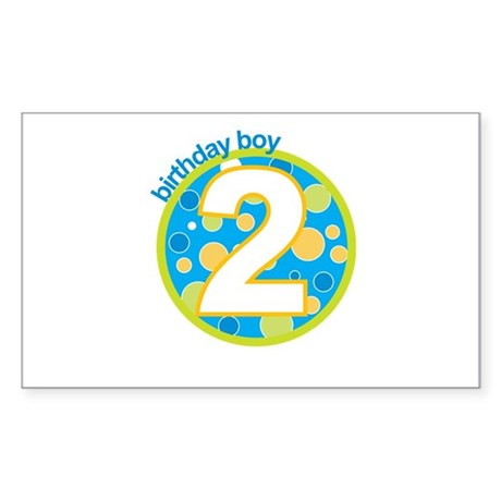 2nd birthday t-shirts Rectangle Sticker