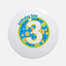 3rd birthday t-shirts Ornament (Round)
