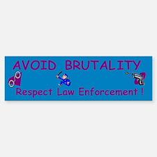 Avoid Brutality Bumper Bumper Bumper Sticker