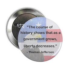"Gov't grows, liberty decreases 2.25"" Button"