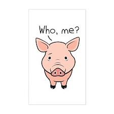 Swine Flu Rectangle Decal