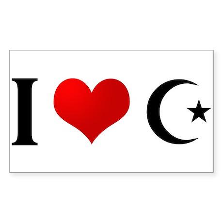 I Heart Islam Rectangle Sticker