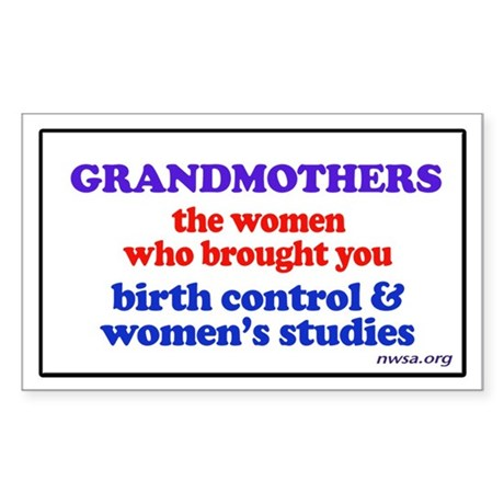 GRANDMOTHERS Rectangle Sticker
