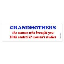 GRANDMOTHERS Bumper Bumper Sticker