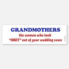 GRANDMOTHERS Bumper Bumper Bumper Sticker