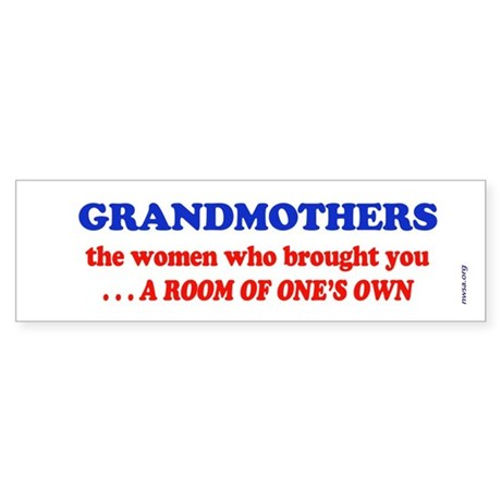 GRANDMOTHERS Bumper Sticker