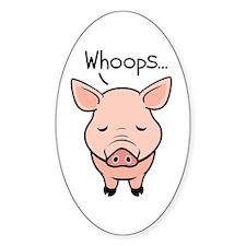 Swine Flu Oval Decal