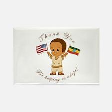 THANK YOU Ethiopia Adoption Rectangle Magnet