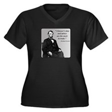 Lincoln Women's Plus Size V-Neck Dark T-Shirt