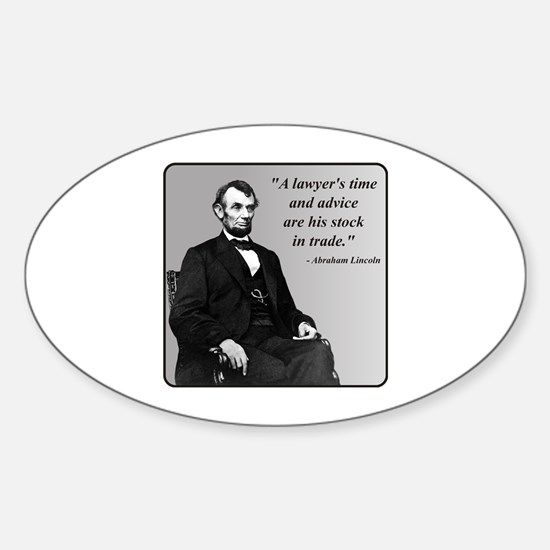 Lincoln Oval Decal