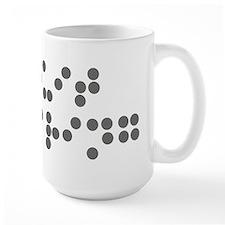 Braille - quit staring Mug