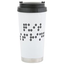 Braille - quit staring Travel Mug