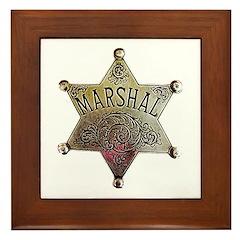 Old West Marshal Framed Tile