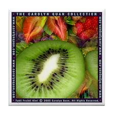 """""""Tutti Fruitti Kiwi"""" Tile Coaster"""