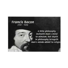 Philosopher Francis Bacon Rectangle Magnet (100 pa