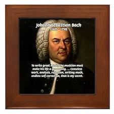 Composer J.S. Bach Framed Tile