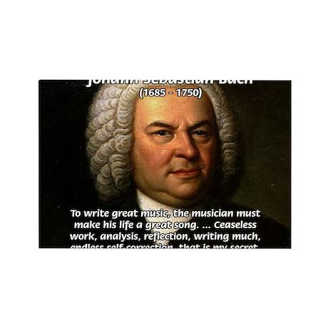 Composer J.S. Bach Rectangle Magnet