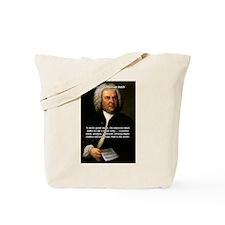 Composer J.S. Bach Tote Bag