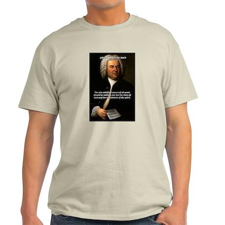 Glory God Music J. S. Bach Ash Grey T-Shirt