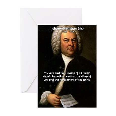 Glory God Music J. S. Bach Greeting Cards (Package