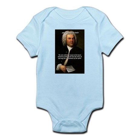 Glory God Music J. S. Bach Infant Creeper