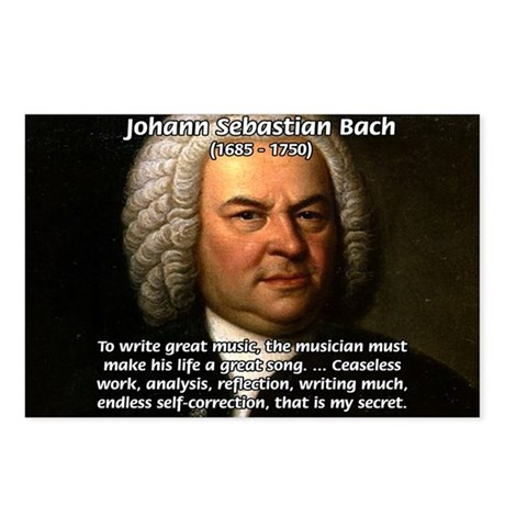 Glory God Music J. S. Bach Postcards (Package of 8