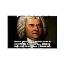 Glory God Music J. S. Bach Rectangle Magnet (100 p