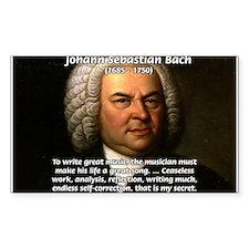 Glory God Music J. S. Bach Rectangle Decal