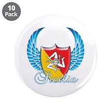 """Sicilian Pride 3.5"""" Button (10 pack)"""
