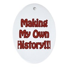 History Oval Ornament