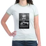 British Philosophy Ayer Jr. Ringer T-Shirt